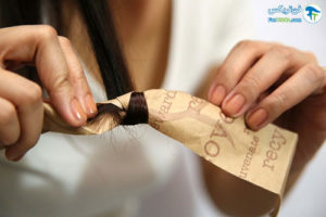 6 فر کردن مو با نوار کاغذی