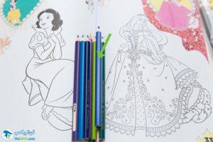 1 آموزش رنگ کردن کتاب رنگ آمیزی