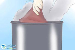 1 آهاردار کردن پارچه چرمی شل