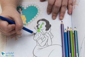 2 آموزش رنگ کردن کتاب رنگ آمیزی
