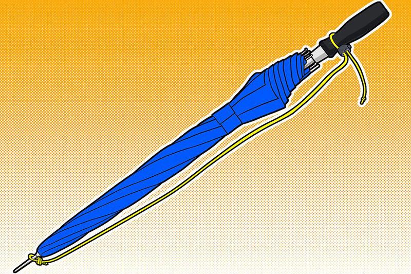 5 طرز ساخت بند برای چتر