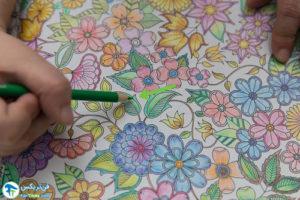 6 آموزش رنگ کردن کتابهای نقاشی