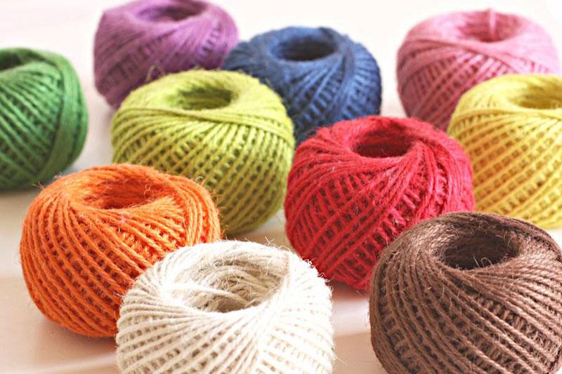 7 طرز رنگ کردن طناب کنفی