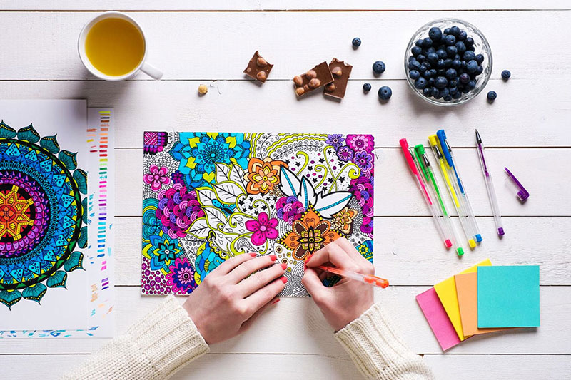 7 آموزش رنگ کردن کتاب رنگ آمیزی