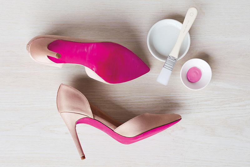 8 اصول رنگ کردن کف کفش