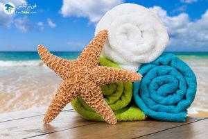 1 شستن و ضدعفونی کردن حوله ساحلی