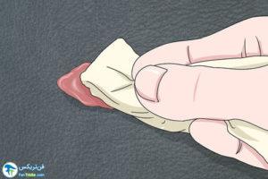 1 پاک کردن لکه رنگ از روی چرم
