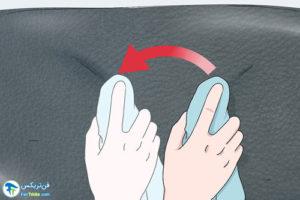 5 پاک کردن لکه رنگ از روی چرم
