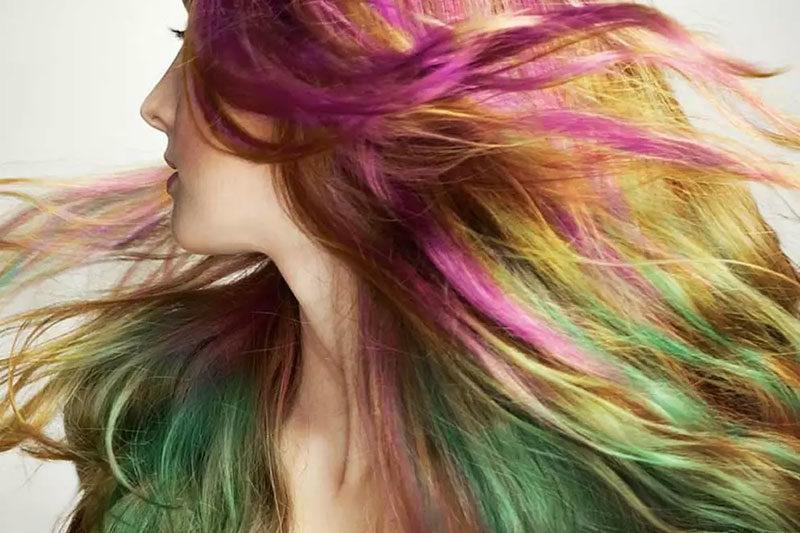 8 طرز رنگ کردن مو با ماژیک
