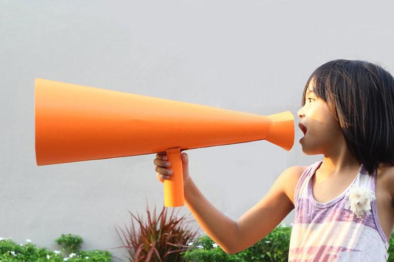 9 طرز ساخت مگافون مقوایی