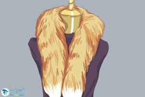 1 ست کردن شال گردن خزدار با لباس و کفش