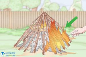 7 سوزاندن کنده درخت