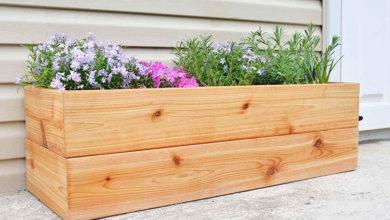 Photo of نحوه ساخت فلاور باکس چوبی یا جعبه چوبی مخصوص کاشت گل و گیاه