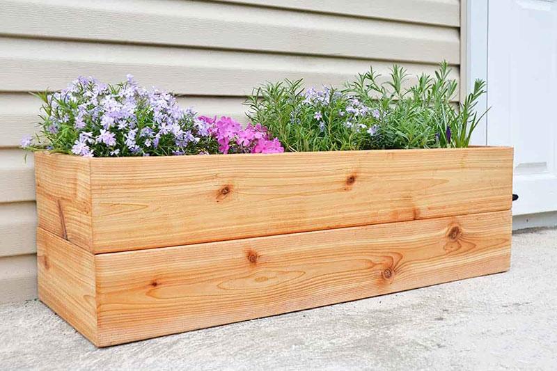 11 ساخت فلاور باکس چوبی